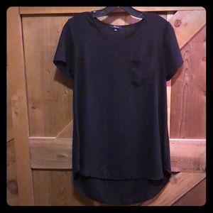 Black pocket blouse